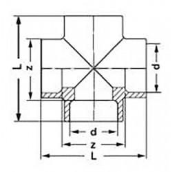 Крестовина полипропиленовая 20 Pro Aqua PA17008P - 01