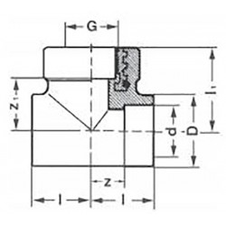 Тройник полипропиленовый PP-R комбинированный с внутренней резьбой 25-3/4″ Pro Aqua PA24014P - 01