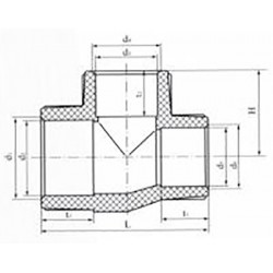 Тройник из полипропилена переходной 63х20х63 Pro Aqua PA14560P - 01