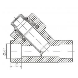 Фильтр PP-R полипропиленовый сетчатый косой 32 внутренний / внутренний Pro Aqua PA440012 - 01