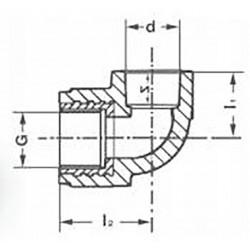 Уголок комбинированный PPR полипропиленовый внутренняя резьба 25 х 3/4″ Pro Aqua PA26014P - 01