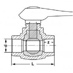 Шаровой кран полнопроходной полипропиленовый 63 Pro Aqua PA40018 - 01