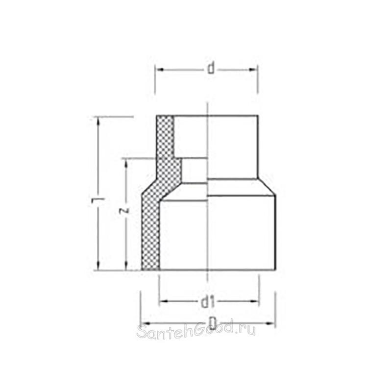 Муфта полипропиленовая PP-R переходная внутренняя / наружная 40 х 32 Pro Aqua PA12522P - 01