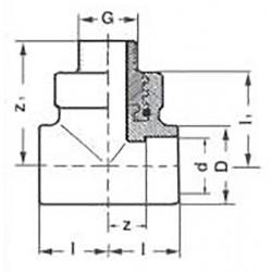 Тройник полипропиленовый PP-R комбинированный с наружной резьбой 32-1/2″ Pro Aqua PA25015P - 01