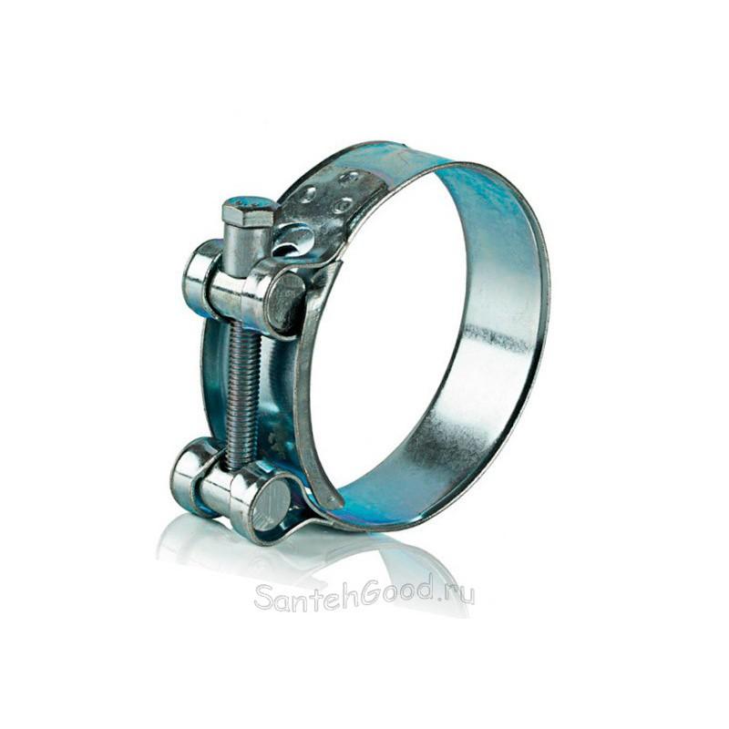 Хомут силовой металлический одноболтовый 32 - 35 мм Робуст