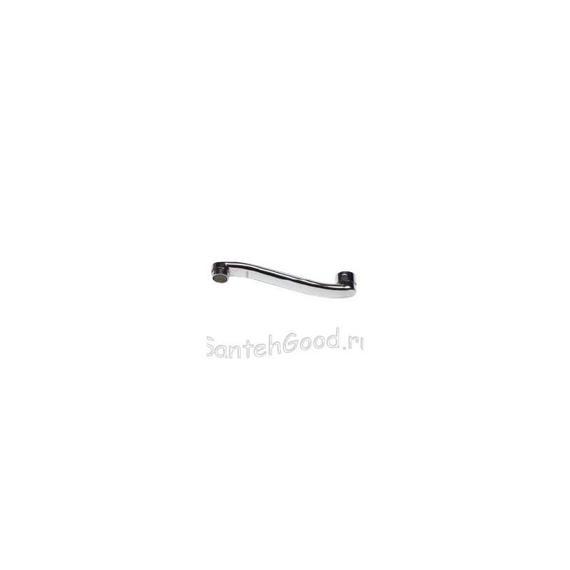 Излив для смесителя плоский изогнутый L-350 мм (ванна)
