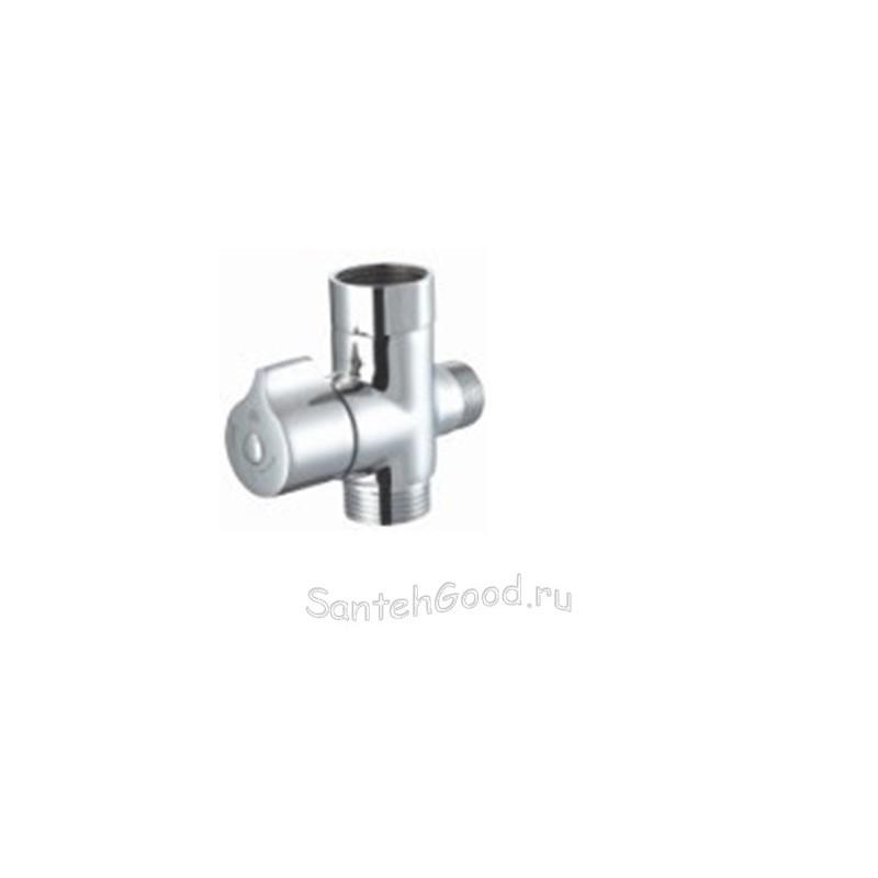 Дивертор для смесителя и душа шаровый 3/4″ х 1/2″ х 3/4″  DK-385