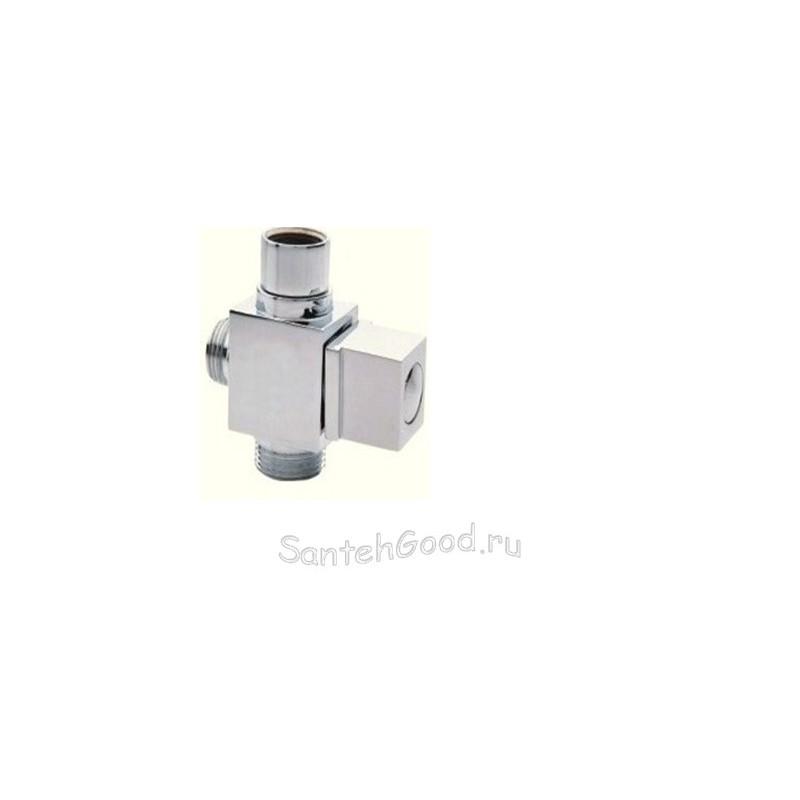 Дивертор для смесителя и душа шаровый EURO 3/4″ х 1/2″ х 3/4″ DK-386