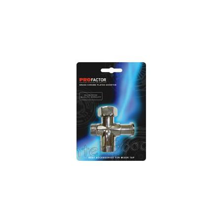 Дивертор для смесителя и душа шаровый 3/4″ х 1/2″ х 3/4″ PROFACTOR BD 650