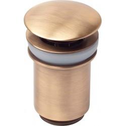 Донный клапан для раковины металлический автомат KAISER 8011 (бронза)