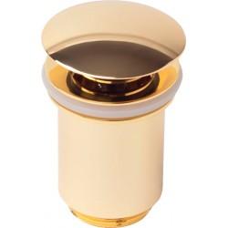 Донный клапан для раковины металлический автомат KAISER 8011 (золото)