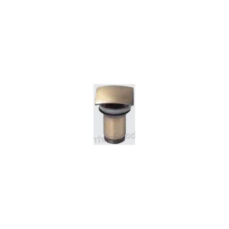 Донный клапан для раковины металлический автомат KAISER 8033 (бронза-квадрат)