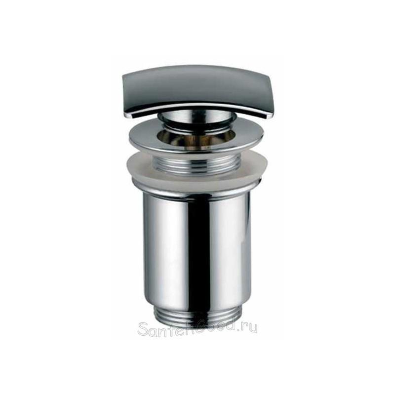 Донный клапан для раковины металлический автомат KAISER 8033 (хром-квадрат)