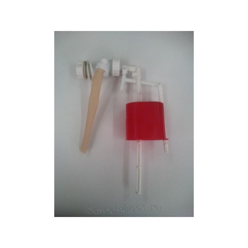 Клапан впускной для бачка унитаза боковой пластиковый (оранжевый поплавок)