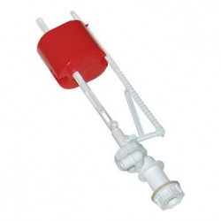 Клапан впускной для бачка унитаза нижний пластиковый (оранжевый поплавок)