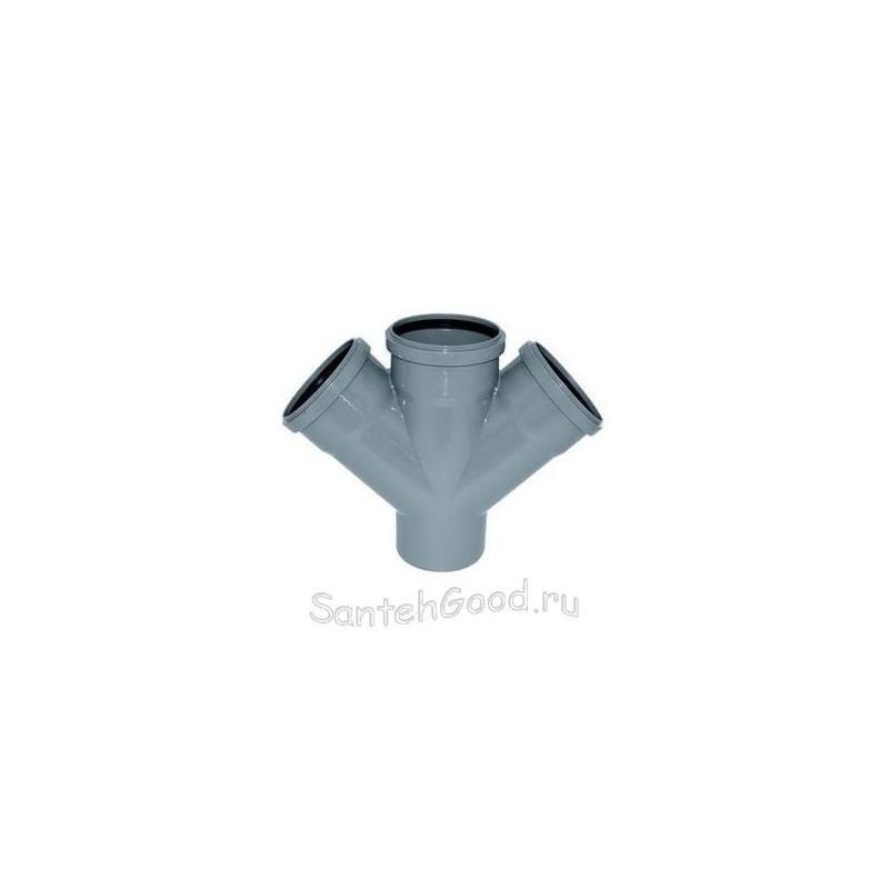 Крестовина канализационная ПВХ d-50х50х50 45°