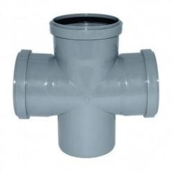 Крестовина канализационная ПВХ d-50х50х50 90°