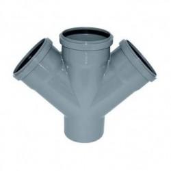 Крестовина канализационная ПВХ d-110х110х110 45°