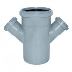 Крестовина для канализации ПВХ d-110х110х50 45°
