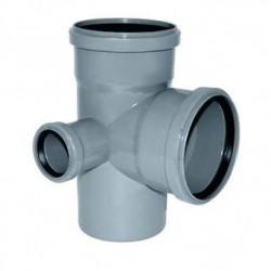 Крестовина канализационная ПВХ левая d-110х110х50 90°