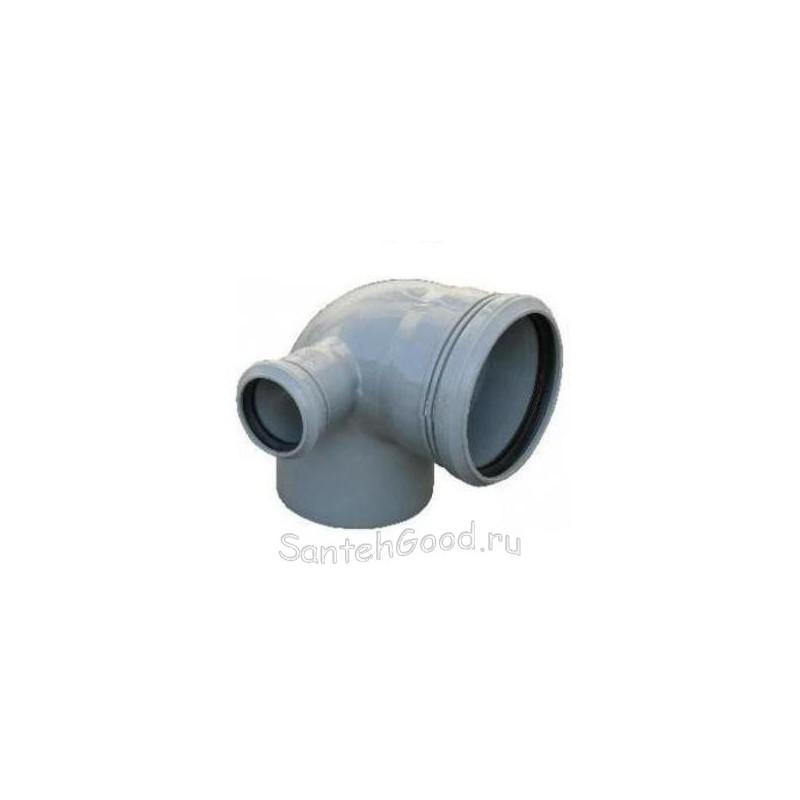 Отвод канализационный d-110х50 90° левый выход
