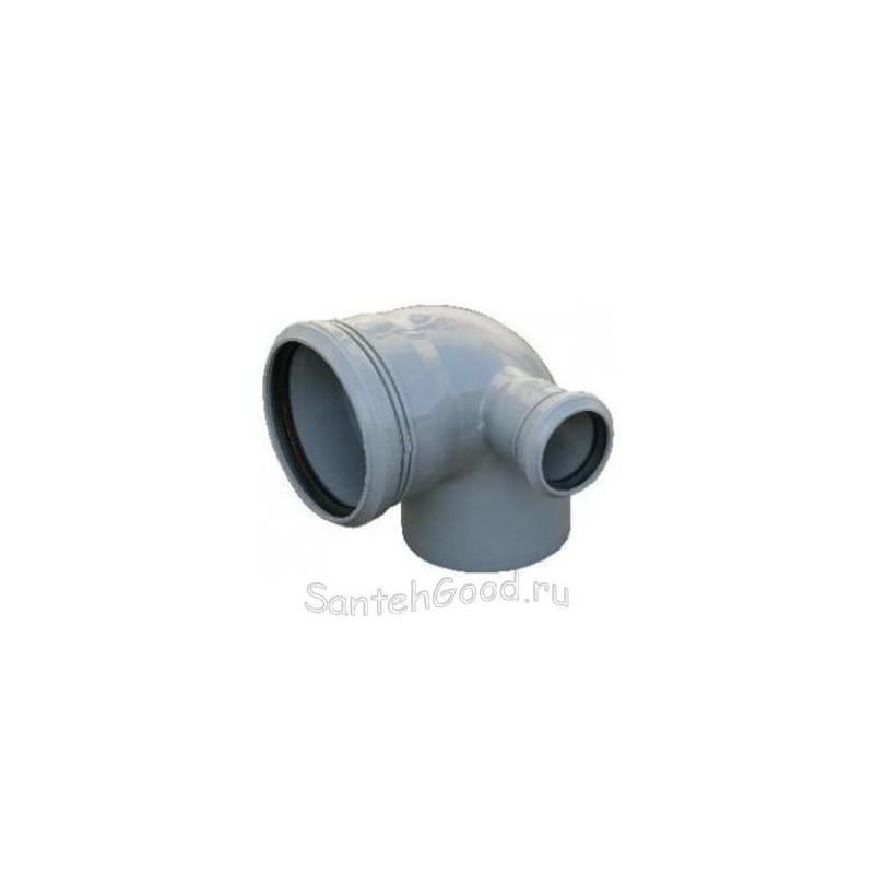 Отвод канализационный d-110х50 90° правый выход