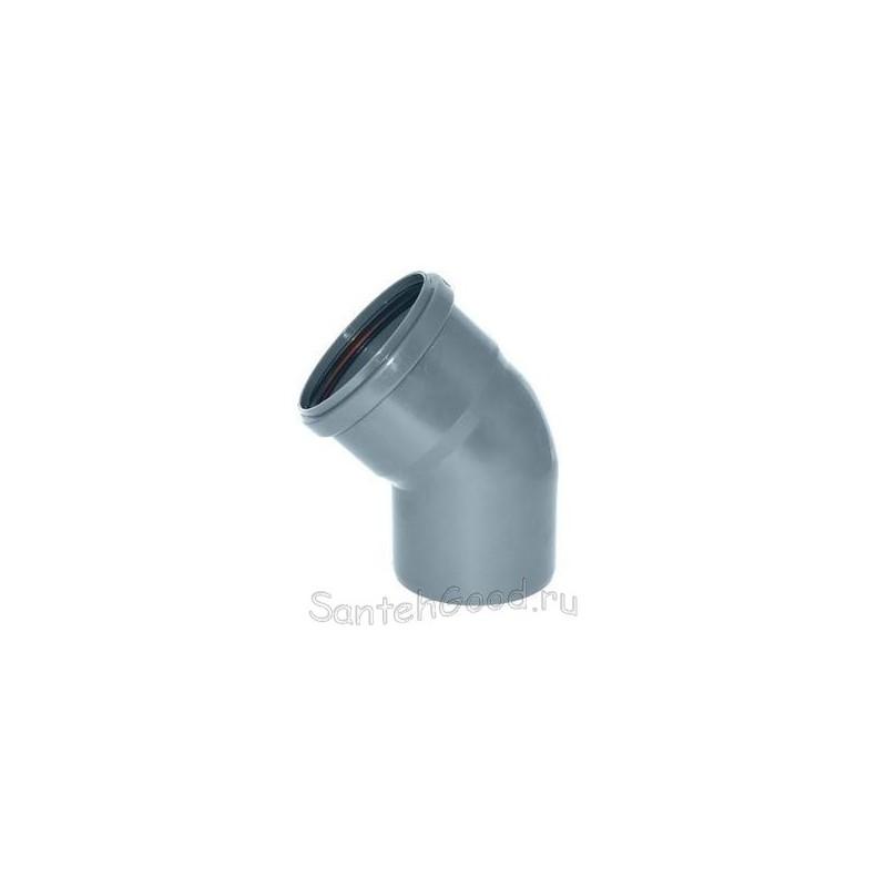 Отвод канализационный d-40 45°