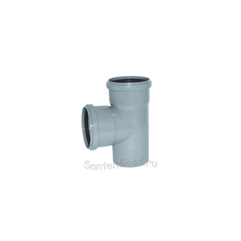 Тройник ПВХ для канализации d-40х40 90°