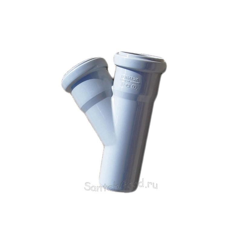 Тройник канализационный ПВХ d-50х40 45°
