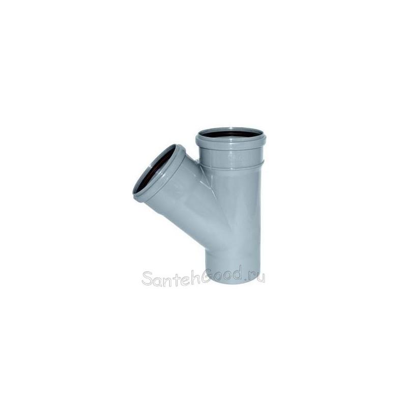 Тройник канализационный ПВХ d-110х110 45°