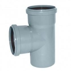 Тройник канализационный ПВХ d-110х110 90°