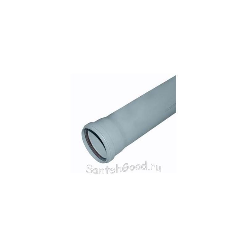 Пластиковая труба для канализации d-50 L 1000мм