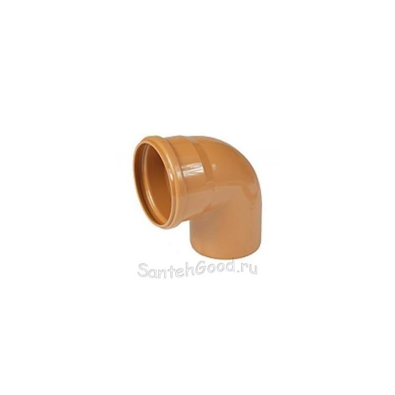 Отвод для наружной канализации d-110 87°