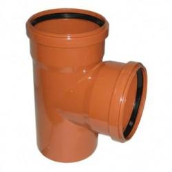 Тройник ПВХ для наружной канализации d-110х110 87°