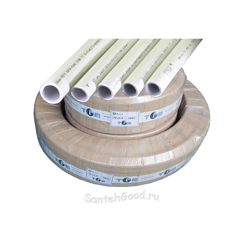 Труба металлопластиковая d-26мм (бухта 100м) TIM
