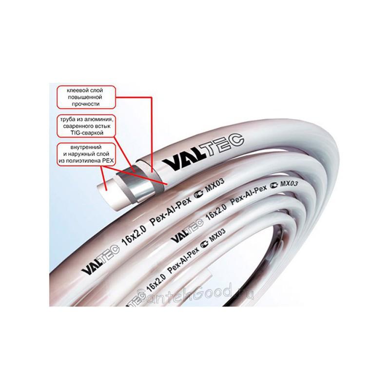 Труба металлополимерная 16 х 2,0 мм VALTEC PEX-AL-PEX (бухта 100м)