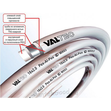 Металлополимерная труба 26 х 3,0 мм VALTEC PEX-AL-PEX (бухта 50м)