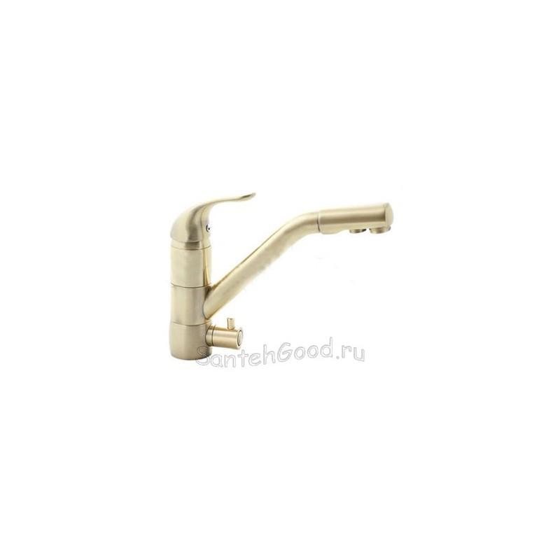 Смеситель для кухни однорычажный под фильтр KAISER SAFIRA ANTIQ 15066 бронза