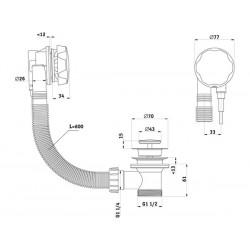 Обвязка для ванны полуавтомат Ани Пласт 520 мм EM301-1
