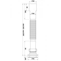 Сифон гофрированный удлиненный Ани Пласт 1 1/4″ *40/50 G216-1