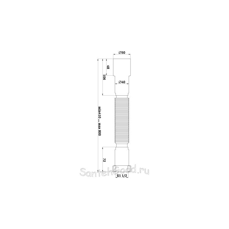 Гибкая труба Ани Пласт 1 1/2″ *40/50 K106-1