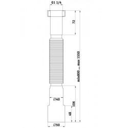 Гибкая труба Ани Пласт 1 1/4″ *40/50 удлиненная K216-1