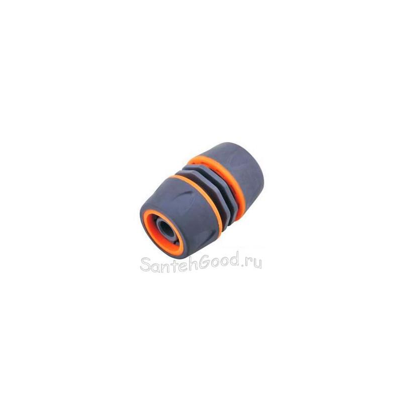 Муфта 1/2″-1/2″ для полива, мягкий пластик