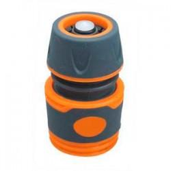 Коннектор с аквастопом универсальный 1/2″ для полива, мягкий пластик