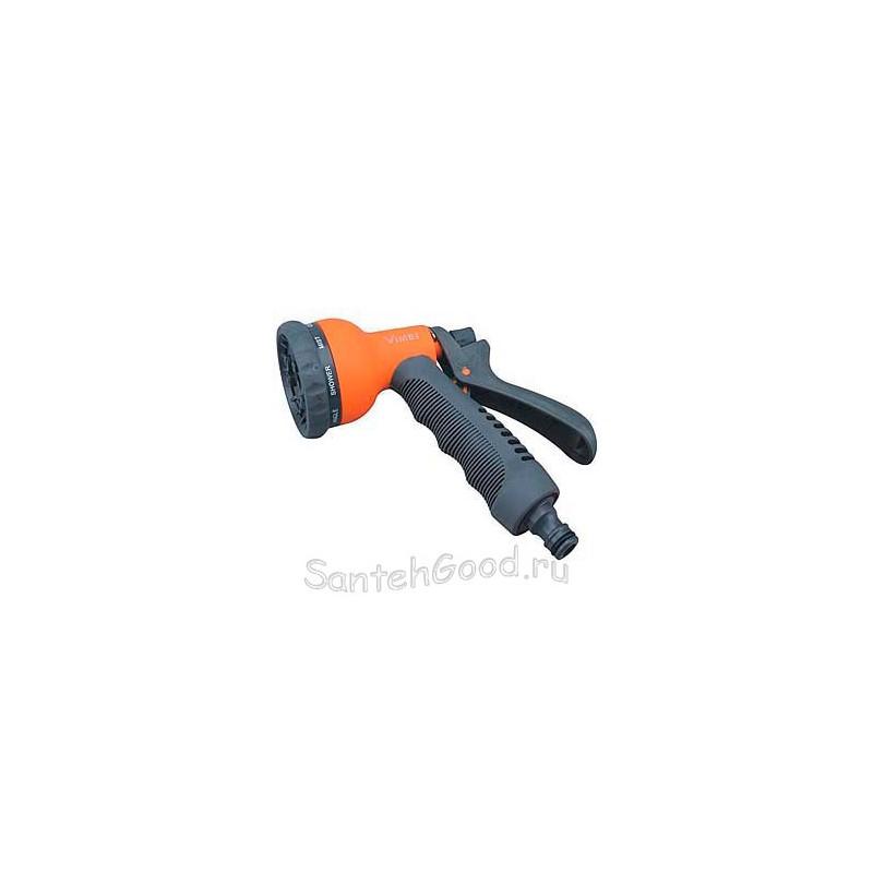 Пистолет для полива пластиковый мягкая ручка (8 режимов)