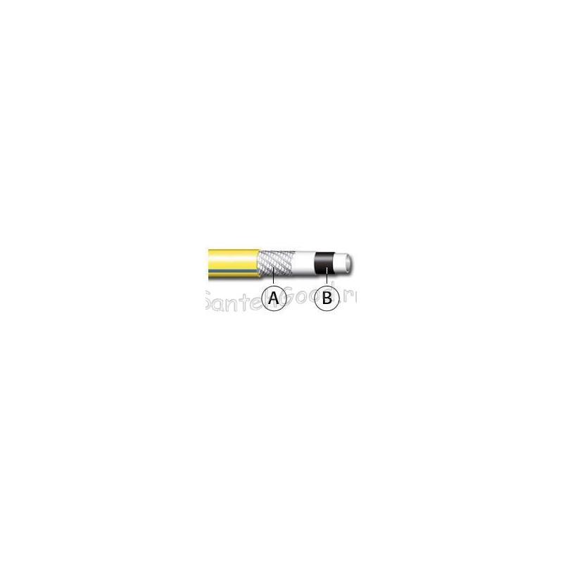 WHITE PLUS NTS Шланг поливочный 5-и слойный жёлтый 1/2″ бухта 15 м