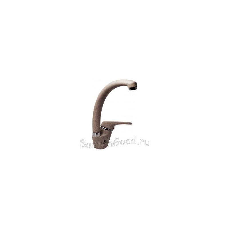 Смеситель для кухни однорычажный KAISER COUNTY 55244-1 коричневый гранит