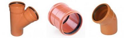 Муфты, отводы и тройники для наружной канализации
